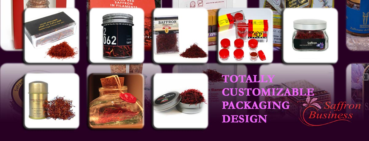 Customizable Saffron Packaging
